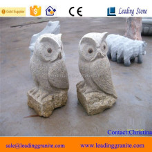 Outdoor decorative granite owl sculpture