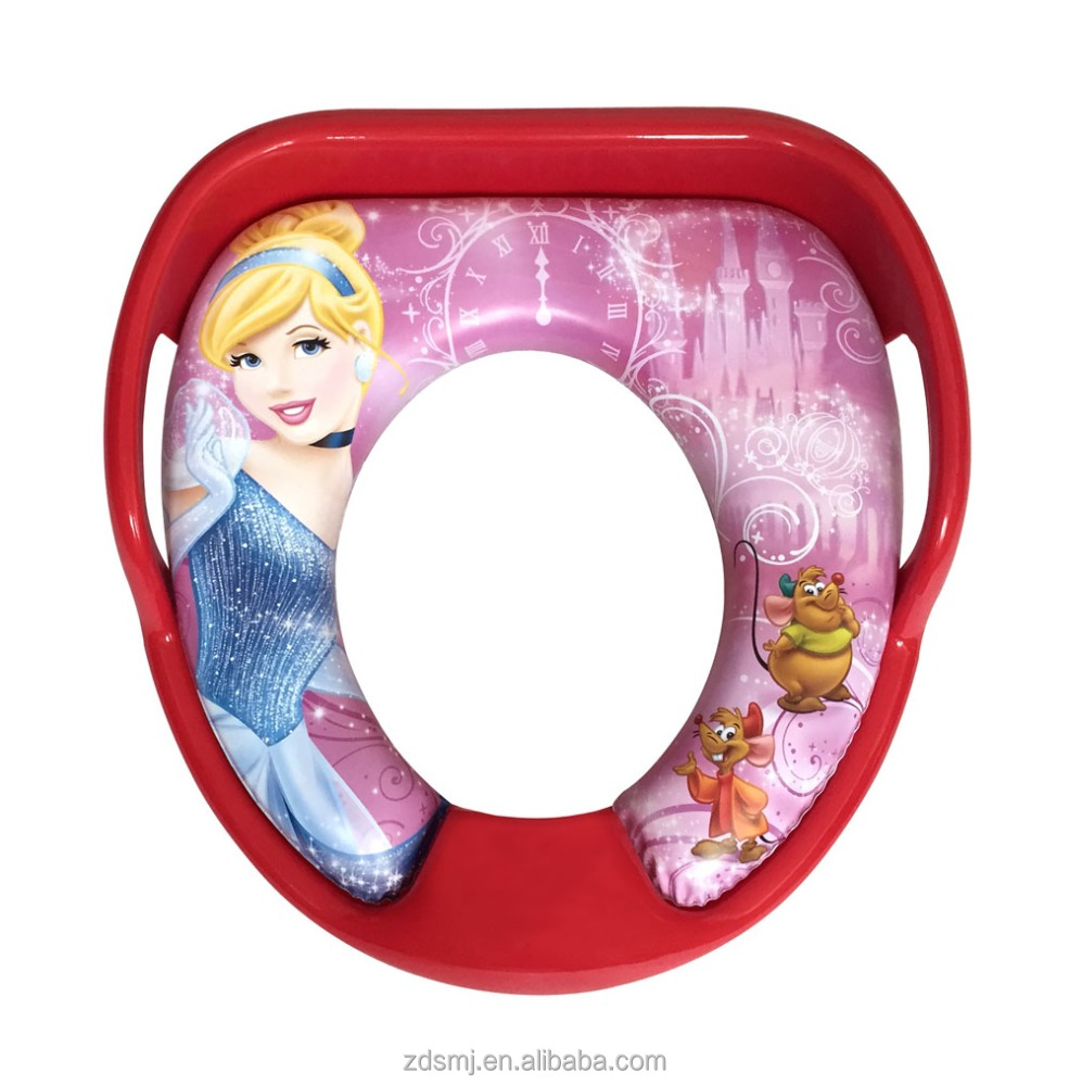 Printed PVC pp plastic training child soft toilet potty seat