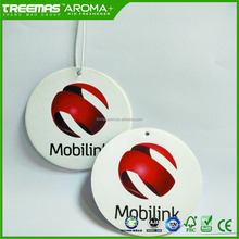 New product of different shapes scent embossment and printing logo hanging paper car air freshener