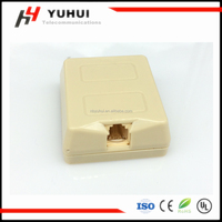 Telephone surface mount box filled with gel telephone plastic wall mount RJ11 box