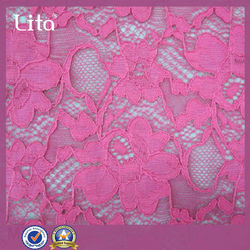 african nylon and spandex lace Jacquard swiss voile lace fabrics for garment ing/dress