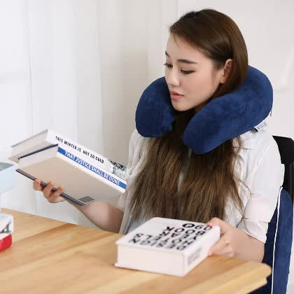 Premium Comfort Memory Foam Travel Neck Pillow with Washable Cover