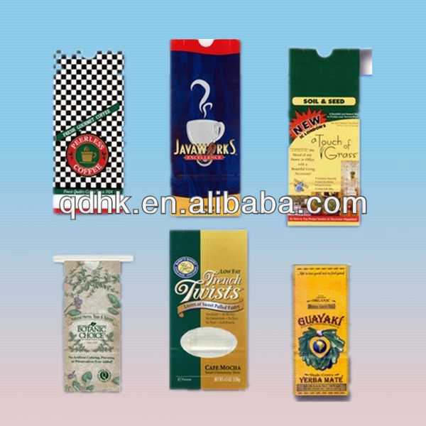 2014 plastic coffee packaging bags with zipper