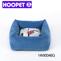 Pet furniture products for dog square dog sofa with patterned cushion dog beds