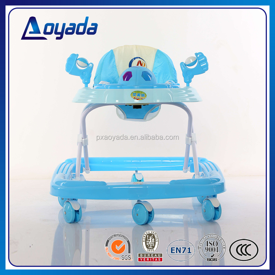 Best selling lovely round baby walker/ metal baby walker/baby walker toy car