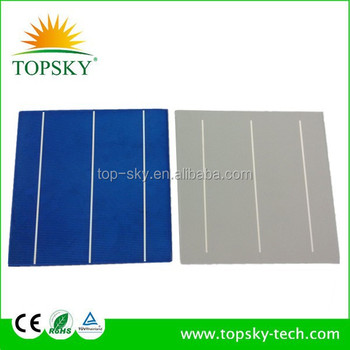 "Perfect quality 17.0-17.8% 6"" 3BB Polycrystalline solar cell with Taiwan brand"