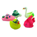 ICTI certificated custom made swimming floating baby squeeze toys sound
