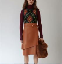 Hot Sell Ladies PU Leather Faux Pencil Skirt For Women