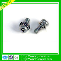 Hot sales M5 stainless steel pan head screws with washer