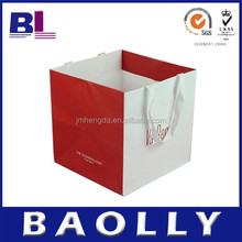 high quality foldable red shopping paper packaging bag B-L-55478