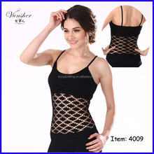 Newest style hot sell spring summer fall fashion seamless sexy net tank top for girls