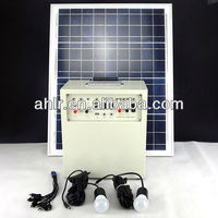 30w/50w portable solar energy system for home lighting