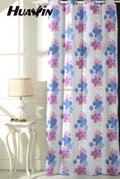 blackout Curtain fabric,Eyelets Top printed designs,new colorful flower designs
