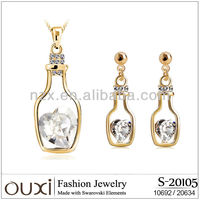 Gold plated New year jewelry set S-20105