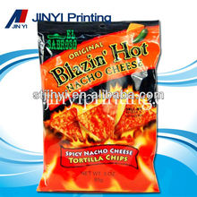 Laminated plastic packaging for mexican food tortilla chips bag