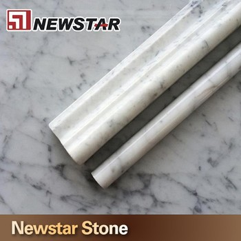 1 2 quot x 12 quot cararra white marble polished pencil molding