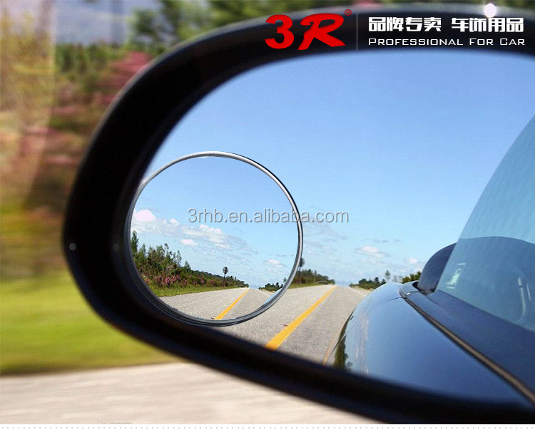 Auto accessories adhesive tape aluminum housing small round car convex blind spot sice wide view mirror