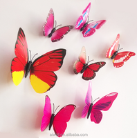 3D Custom Butterfly PVC Sticker Art Design Removable Plastic Home Decor Waterproof Wall Decal DIY Wallpaper Wedding Decoration