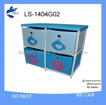 newest plastic 4 drawer clothing organizer
