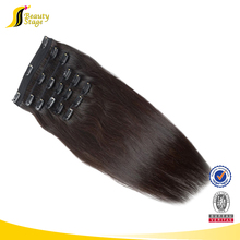 wholesale Brazilian remy human hair weave blonde color clip in hair extension