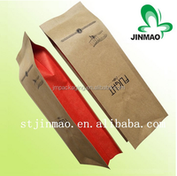 Valve Side Gusset kraft paper Bag for Coffee