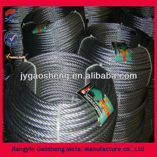6x12+7FC 6.0mm galvanized tugboat rope in coil