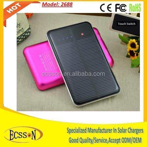 10000mah new developed solar panel charger, solar charger for mobile phone and tablet pc with high capacity