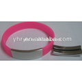 2017 Silicone Bracelet with metal clasp