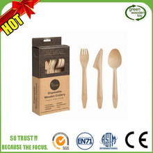 2017 Disposable Bamboo Cutlery,Disposable Wooden Cutlery Set