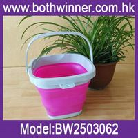 foldable silicone ice bucket ,H0T661 easy carrying silicone folding bucket , foldable water bucket