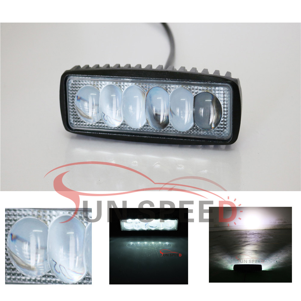 Reliable supplier 18W 12V 24V 4WD led spot flood beam working light for automotive car driving