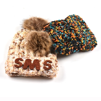 Winter beanie pom pom warm blank polar fleece beanie custom with towel embroidery