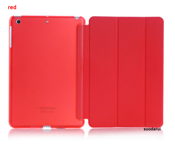 Folded ptotective case for ipad mini 3 flip stand leather case For Apple iPad mini 3