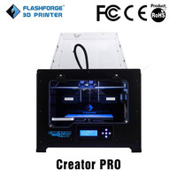 Flashforge Creator Pro 3d printing color printer closed chamber