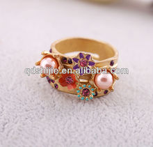 Decorative Flowers Fashion Jewelry Female Rings