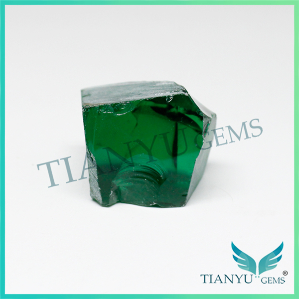 Gem rough wholesale, lab created emerald gemstones, emerald green nano stone prices