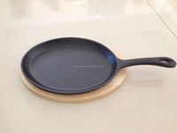cast iron skillet steak plate with long handle