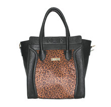 New design Leopard PU handbag, smile handbags 2014