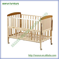 High quality wooden baby swing bed