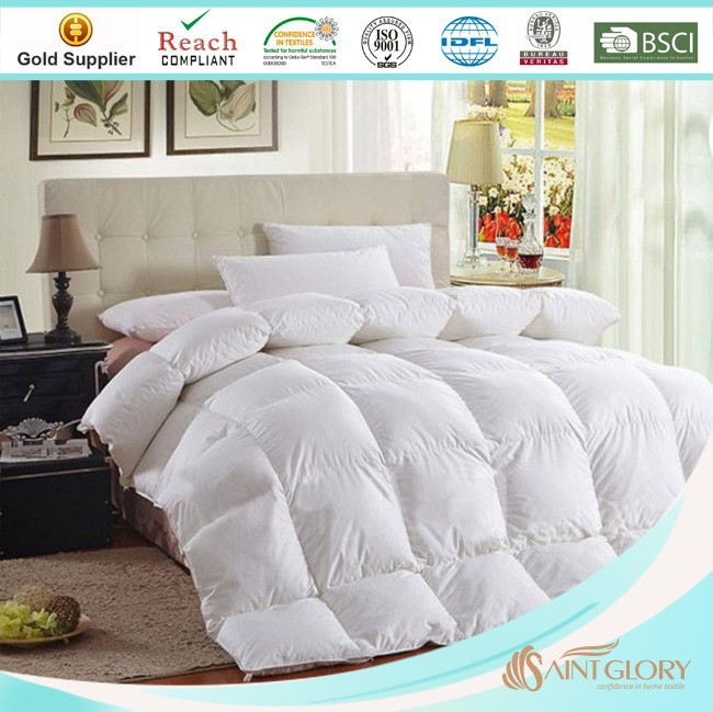 high quality duck or goose down duvet / fluffy down comforter for hotel