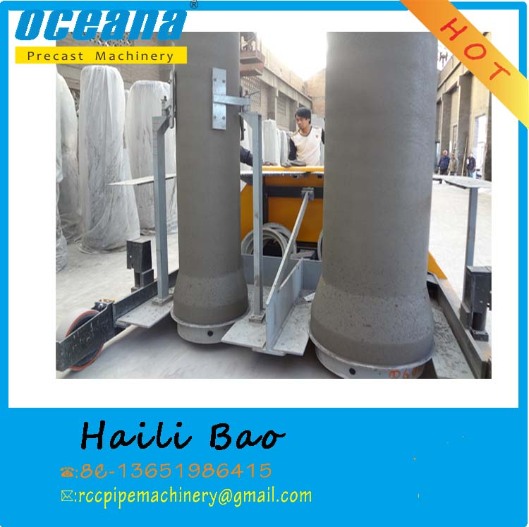 Double-position vertical vibration concrete pipe making machine, fiber cement pipe machine