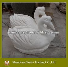 hand carved marble goose