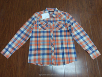 MYR-05014 High Quality Long Sleeve Men's Plaid Casual Shirt