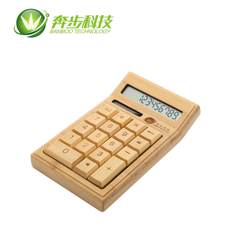 Best Eco-friendly desktop 12 digits mini bamboo scientific solar calculator