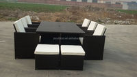 2015 poly rattan furniture/garden patio set /wicker cube sofa
