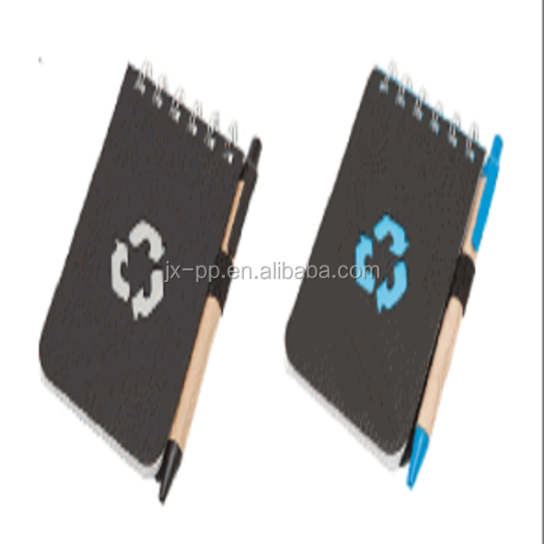 Recycled Symbol Flip Notebooks & pen