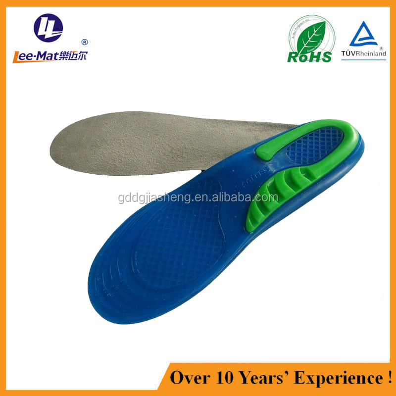 Light up shoes weight loss rubber memory foam silicone gel metal insoles for shoes from Chinese factory