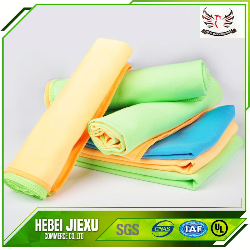 antibacterial fast drying microfiber suede towel for car