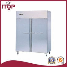 GN 2/1 pan stainless refrigerated cabinet