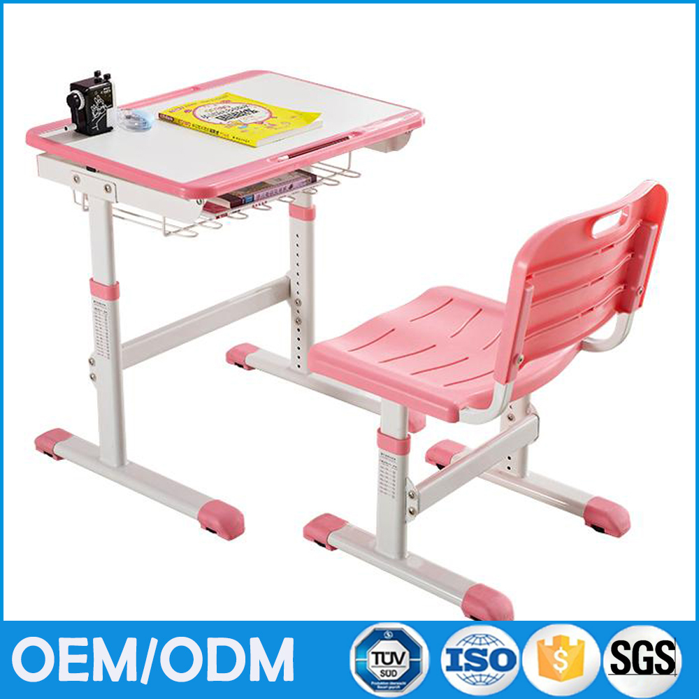 Single cheap ergonomic kids study desk desk and chair portable children study table and kids study table chair set